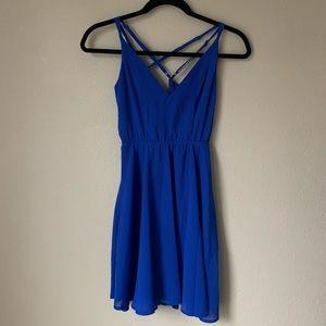 ✨ Charlotte Russe: Blue Backless Dress - Size XS